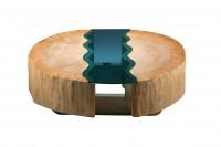 Poplar wood river coffee table