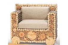 Birch and Poplar wood outdoor chair