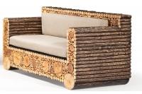 Birch and Poplar outdoor sofa