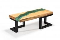Birch wood river coffee table